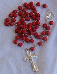 Red wood Rosary