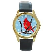 Pretty Christmas Cardinal GOLD-TONE Watch 9 Other Styles Spo - $25.99