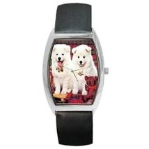 SAMOYED CHRISTMAS PUPPY DOGS BARREL WATCH 9 OTHER STYLES SPO - $25.99
