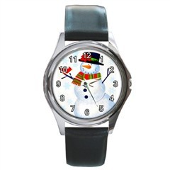 SNOWMAN & CARDINAL CHRISTMAS XMAS GOLD-TONE WATCH 3 OTHER ST