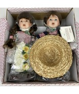 MIB CAMELOT TWINS BOBBY AND BECKY PORCELAIN DOLLS - $65.44