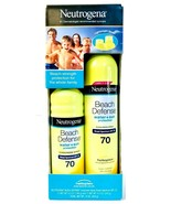 2 Pack Neutrogena 15 Oz Beach Defense Water & Sun SPF 70 Sunscreen Spray  - $34.99