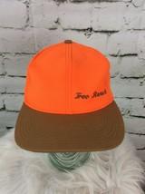 Treo Ranch Heppner Oregon Neon Orange Strap Back Hat Cap Vtg Made in USA - $19.79