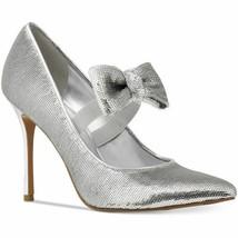 NEW MICHAEL KORS Paris Sequin Bow Pumps, Silver - MSRP $ - $53.95