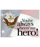 Support Our Troops US Navy Hero Handmade Notecard - $1.50