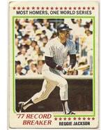 Reggie Jackson Baseball Card #7 - $3.95