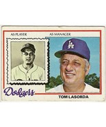 Tom Lasorda Baseball Card # 189 - $3.95