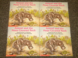 4 copies of Anansi and the Moss-Covered Rock Eric A. Kimmel - $3.00