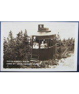 RPPC, Black and White Postcard, Cable Car on Cannon Mountain - $6.00