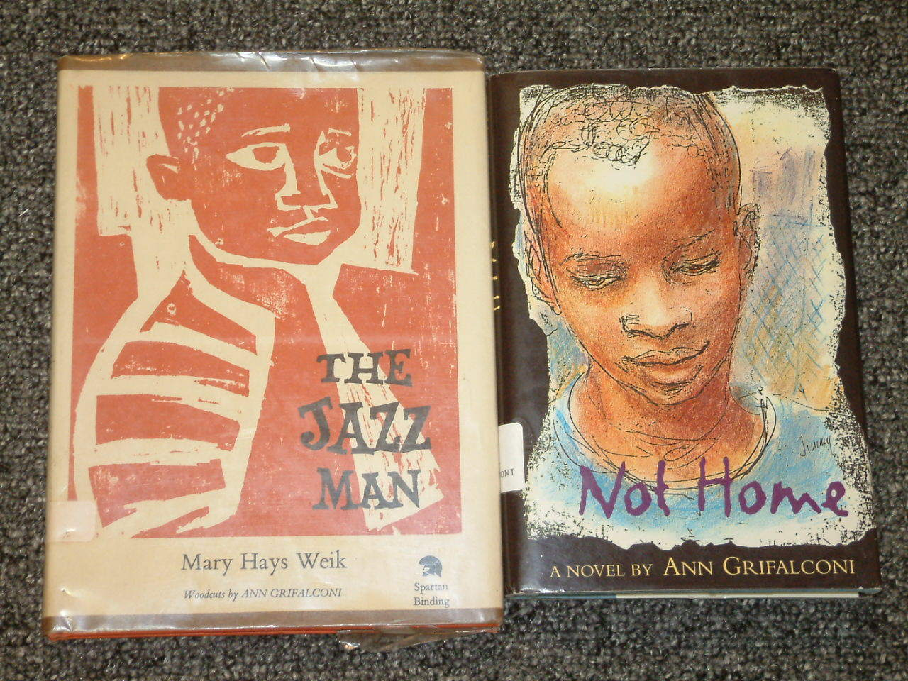 The Jazz Man by Mary Hays Weik, Not Home by Ann Grifalconi