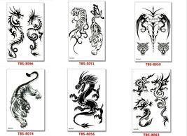 Dragon Temporary Tattoos Body Arm Sticker Half Sleeve Fake Waterproof (6 sheets) image 4