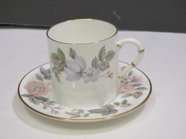 "Royal Worcester June Garland 2 3/8"" Flat Demitasse Cup & Saucer - $13.86"