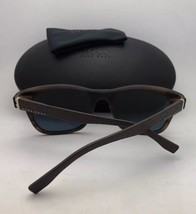 New HUGO BOSS Sunglasses 0637/S HXENR 60-15 Black-Carbon Fiber Frame w/Grey Lens