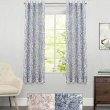 "Toile Lace Grommet Floral Window Curtain Single Panel 63""x54"" - $25.79"