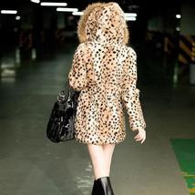 Women's New Winter Style Hooded Leopard Faux Fur Coat image 2