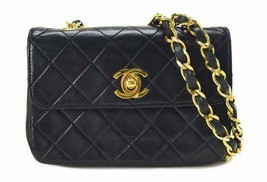 Chanel mini Matorasse chain shoulder 1 series vintage lambskin shoulder bag - $1,692.73