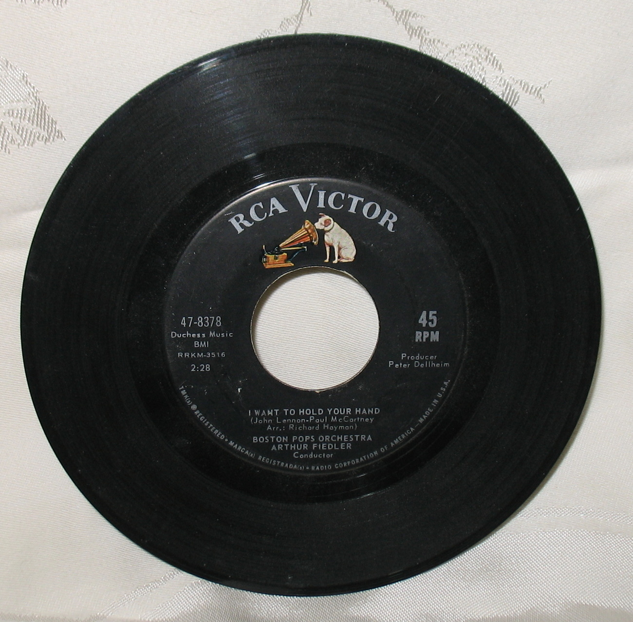 Hello Dolly/I want to Hold Your Hand 45 Boston Pops 47 8378