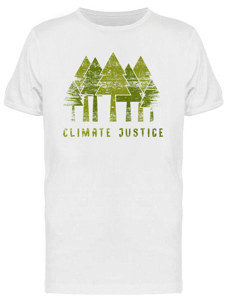 Climate Justice Forest Grunge Style Graphic Men's White T-shirt