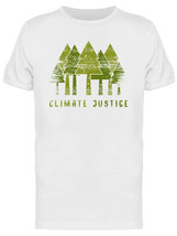 Climate Justice Forest Grunge Style Graphic Men's White T-shirt image 1