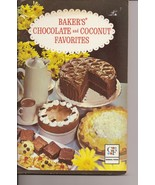 Bakers Chocolate and Coconut Favorites Cookbook Cut Up Cakes - $7.50