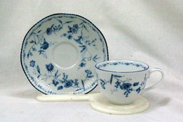 Noritake 2001 Regis Blue #4235 Cup And Saucer Set - $6.92