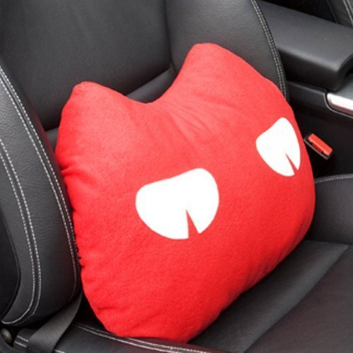 PANDA SUPERSTORE Cute Design Multi-Function Lumbar Support/Back Cushion,Red (Cur