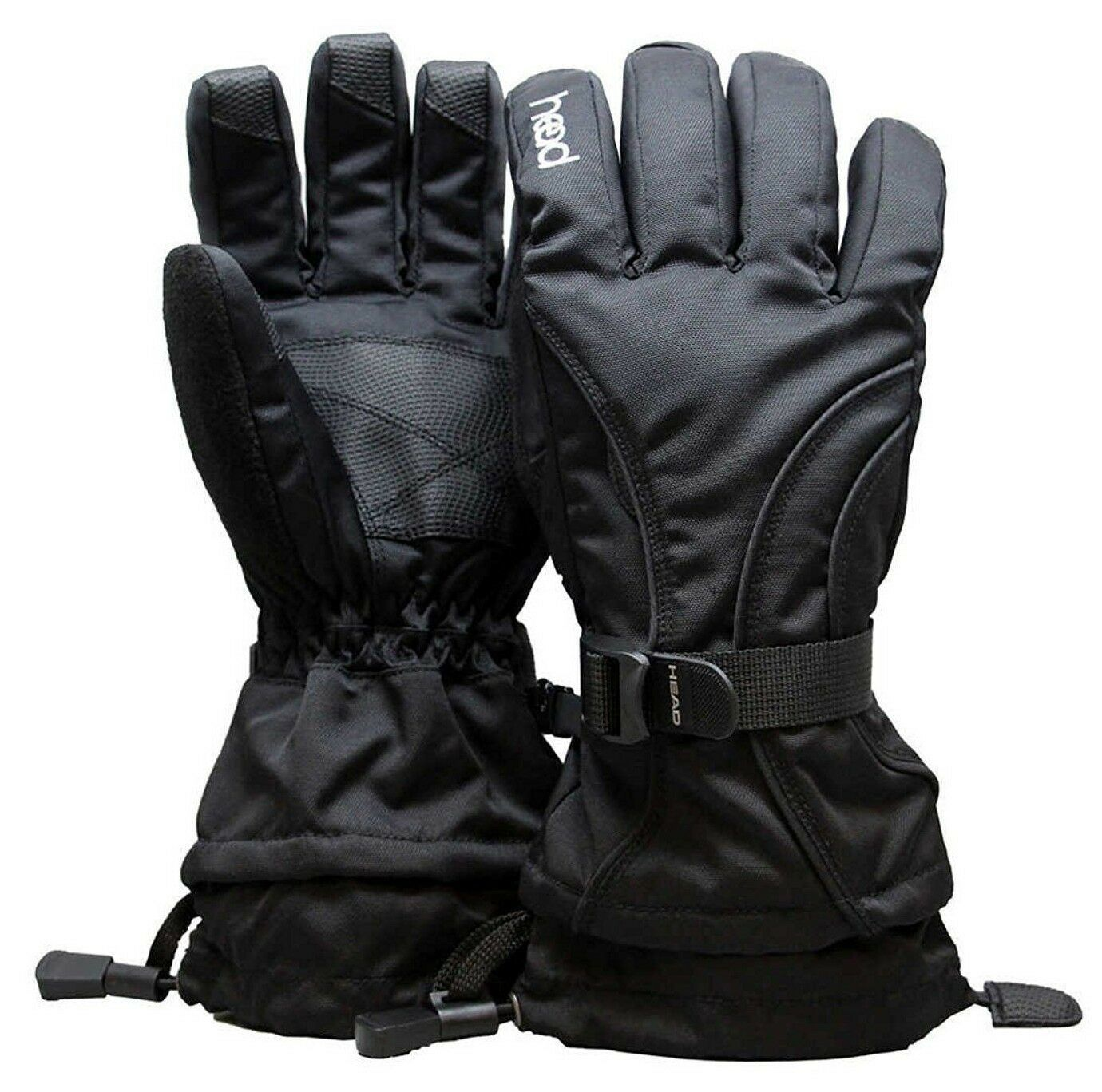 Head Junior Jr Black Insulated Ski Snowboard Winter Gloves M/6-10, L/10-14 NWT