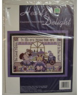 Hearts Delight Counted Cross Stitch Kit Memories - $9.00