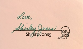 Shirley Jones Autographed Hand Signed 3x5 Index Card The Partridge Family w/COA - $19.99