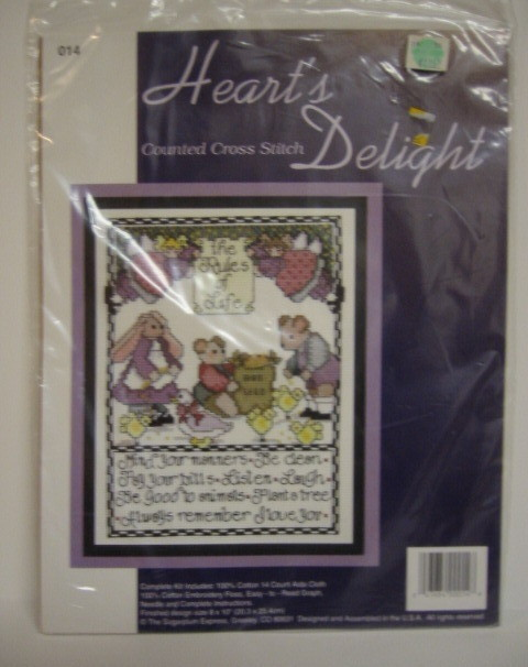 Primary image for Hearts Delight Counted Cross Stitch Kit Lifes Little Rules