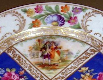 Dresden plate with figures 2