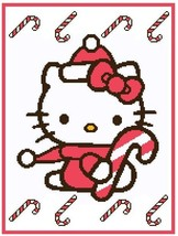Hello Kitty and Canes Crochet Graph Afghan Pattern - $5.00