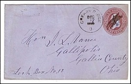 1886 Greasy Ridge OH Defunct Post Office (DPO) ... - $9.95