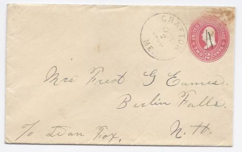 Primary image for 1900 Grafton ME Defunct Post Office (DPO) Cover