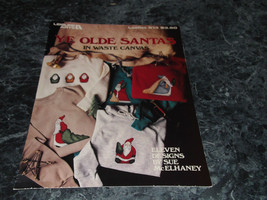 Ye Old Santas in Waste Canvas by Sue McElhaney leaflet 613 Leisure Arts - $2.99