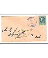 1882 Muscotah KS Vintage Post Office Postal Cover - €8,78 EUR
