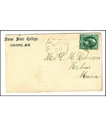 c1870 Orono ME Vintage Post Office Postal Cover - $9.95