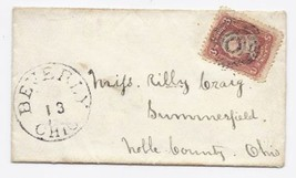 c1863 Beverly OH Vintage Post Office Postal Cover - $9.95