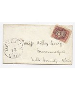 c1863 Beverly OH Vintage Post Office Postal Cover - £7.79 GBP