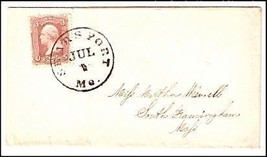 c1862 Searsport ME Vintage Post Office Postal Cover - $9.95