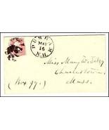 c1862 Durham NH Vintage Post Office Postal Cover - $13.18 CAD