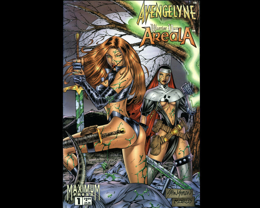1996 Avengelyne/Warrior Nun Areala #1 VF All Color