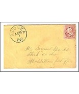c1862 Niconza IN Discontinued/Defunct Post Office Postal Cover - €8,83 EUR