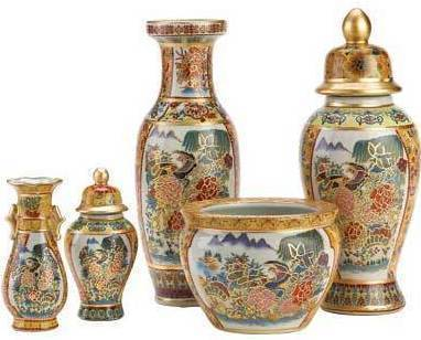 Asian Palace Vase Ensemble 39