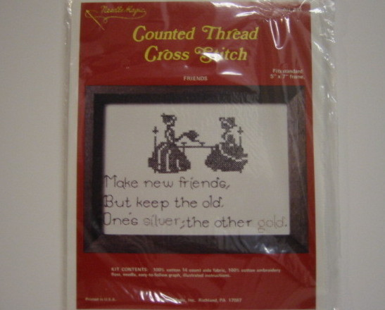 Needle Magic Counted Cross Stitch Kit Friendship