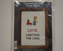 Needle Magic Counted Cross Stitch Kit Love Lightens the Load - $9.00