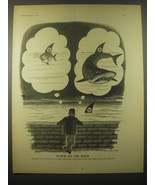 1966 Cartoon by Norman Mansbridge - Watch on the Rhine How far - $14.99