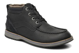 Clarks Men's Mahale Mid Black Leather Lace Up Chukka Boots UK Size 8 G - $91.82