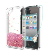 iPhone 4S Case with HD Screen Protector, Atump Floating Sparkle Glitter ... - $16.85