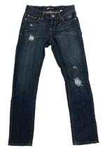 Levi's Girl's Boyfriend Jeans Slightly Distressed Dark Blue - $19.99